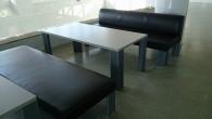 公共施設の椅子張替え(布地~レザーへ) BEFORE AFTER